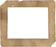 het document van de 19de Eeuw verslechterd en bevlekt frame - Stock Foto