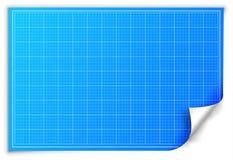 Het document van de architectenblauwdruk achtergrondconcept Stock Afbeeldingen