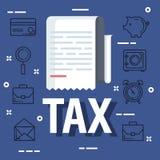 Het document van de de dienstbelasting met bedrijfsrapport vector illustratie