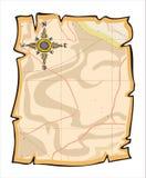 Het document van de kaart Stock Afbeeldingen