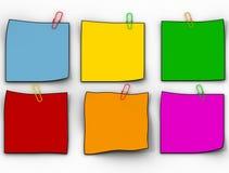 Het document van de kleur pamfletten stock illustratie
