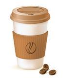 Het document van de koffie kop Royalty-vrije Stock Foto's