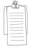 Het document van de memorandumnota lijnillustratie Stock Foto's