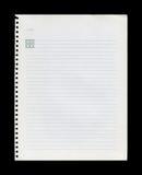 Het document van de nota Royalty-vrije Stock Foto