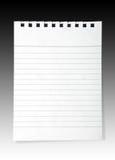 Het document van de nota Stock Afbeelding