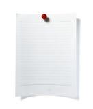 Het document van de nota de zaken van het herinneringsbureau stock foto's