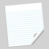 Het document van de nota met weg Royalty-vrije Stock Foto