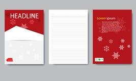 Het document van de ontwerpdekking Kerstmisrapport Stock Afbeelding
