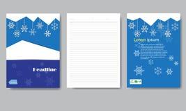 Het document van de ontwerpdekking Kerstmisrapport Stock Afbeeldingen