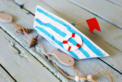Het document van de origami boot Royalty-vrije Stock Afbeelding