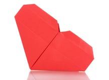Het document van de origami hart Stock Afbeeldingen