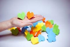 Het document van de origami harten Royalty-vrije Stock Foto's