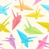 Het document van de origami kranen vector illustratie