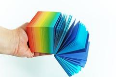 Het document van de regenboog Stock Fotografie