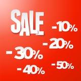 Het document van de verkoop percents reeks. Vector. vector illustratie