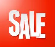 Het document van de verkoop. Vector. stock illustratie