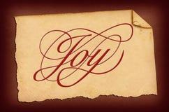 Het Document van de vreugde Stock Fotografie