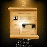 Het document van de website malplaatje Royalty-vrije Stock Afbeeldingen