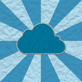Het document van de wolk ambacht Stock Afbeelding