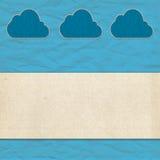 Het document van de wolk ambacht en oud document Royalty-vrije Stock Foto