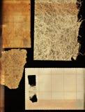 Het document van Grunge inzameling Stock Afbeeldingen