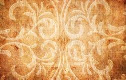 Het document van Grunge met bloemenelementen Royalty-vrije Stock Afbeelding