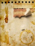 Het document van Grunge met koffietekens royalty-vrije illustratie