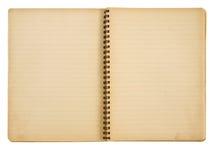 Het document van Grunge notitieboekje Stock Foto