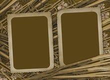 Het document van Grunge voor foto met bamboe Stock Fotografie