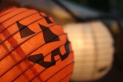 Het document van Halloween lantaarn Stock Foto