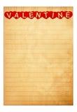 Het document van het boek valentijnskaartachtergrond Stock Afbeelding