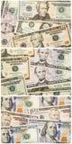 Het document van het collagegeld dollarsachtergrond Stock Fotografie
