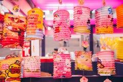 Het document van het de medio-herfstfestival lantaarns Royalty-vrije Stock Foto's