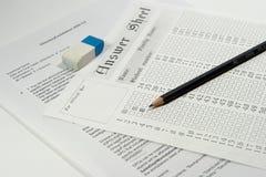 Het document van het examen Royalty-vrije Stock Afbeeldingen