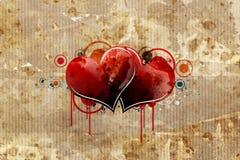 Het document van het karton met hart royalty-vrije illustratie