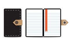 Het document van het notaboek Stock Foto