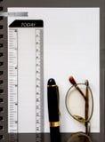 Het document van het notaboek Stock Foto's