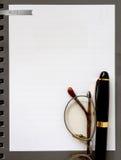 Het document van het notaboek Stock Afbeeldingen