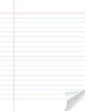Het document van het notitieboekje stock foto