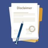 Het document van het ontkenningsdocument wettelijke overeenkomst ondertekende zegel vector illustratie
