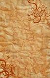 Het document van het perkament wervelingen Royalty-vrije Stock Fotografie