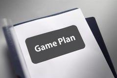 Het document van het Plan van het spel Stock Afbeelding