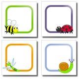 Het document van insecten nota's Stock Afbeelding