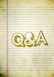 Het document van vragen en van Antwoorden Royalty-vrije Stock Fotografie