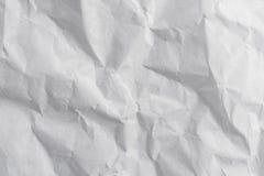 Het document verfrommelde witte textuur en achtergrond met ruimte stock afbeeldingen