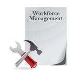 Het documentdocument van het aantal arbeidskrachtenbeheer Royalty-vrije Stock Afbeeldingen