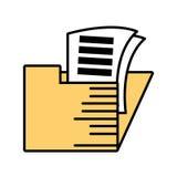 het documentoverzicht van het omslagdossier stock illustratie