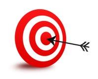 Het doel en de pijl van Bullseye Royalty-vrije Stock Afbeeldingen