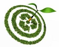 Het doel is het recycling Stock Afbeelding