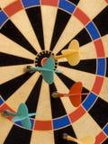 Het doel magnetische pijltjes van de kleur Royalty-vrije Stock Foto's